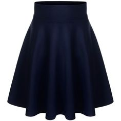 BIADANI Women Versatile Flared Stretch Wide Band Midi Length Skater... ($11) ❤ liked on Polyvore featuring skirts, midi circle skirt, midi flare skirt, mid calf skirts, circle skirts and olive skirt