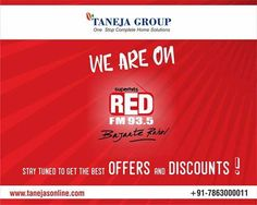 Tune into RED FM to know about our new offers! #tanejasonline #REDFM #offersanddiscounts #onlineshopping #shopnow