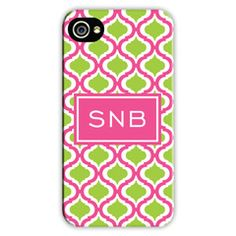 Personalized Cell Phone Case Kate Raspberry & Lime