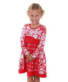 Look at this #zulilyfind! Holiday Sally Dress - Toddler & Girls by Jelly the Pug #zulilyfinds