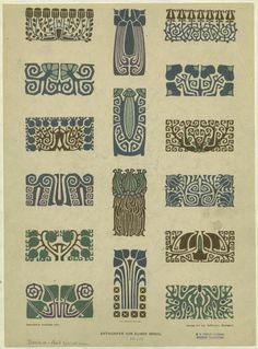 ArtNouveau Foral Border DesignsArtist - Eugen Gradl Engraver - Emil Hochdanz 1889-1928, Stuttgart