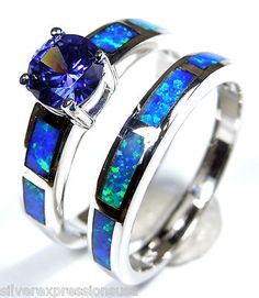 blue fire opal...JUST PUT A DIAMOND IN THE CENTER, A BIG ONE!