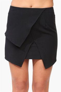 #Necessary Clothing       #Skirt                    #Overlap #Mini #Skirt #Black                        Overlap Mini Skirt in Black                                                   http://www.seapai.com/product.aspx?PID=41944