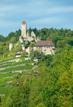 Hotel-Restaurant Burg Hornberg Neckarzimmern Set in the historic Burg Hornberg fortress, this 4-star hotel sits on a hill from which you can enjoy beautiful views across the picturesque Neckertal valley and the surrounding vineyards.