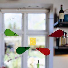 Flensted Mobiles Mouse Mobile Color: Green / Orange f106b,    #Flensted-Mobiles-f106b