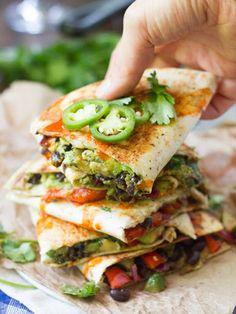 Loaded Avocado Quesadillas Recipe on Yummly