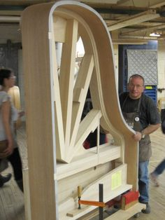 A piano being built at Steinway & Sons.