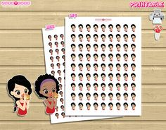 Chic Burguer Dinner Printable Planner stickers Print and Cut