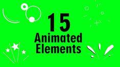 15 Animated Elements   Burst Animation   in Greenscreen Free Green Screen, Green Screen Footage, Green Screen Backgrounds, Chroma Key, Motion Graphics, Animation, Youtube, Studios, Fonts