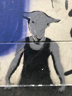 Is this a #man or a #goat? #streetart in the #Lutkenieuwstraat #Groningen #Netherlands