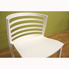 White Modern Accent/ Dining Chairs (Set of 2)  $133