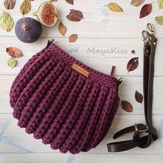 Discover thousands of images about Alla Cherkasova Crochet Purse Patterns, Crochet Stitches, Handbag Patterns, Crochet Teddy, Diy Crochet, Crochet Handbags, Crochet Purses, Yarn Bag, Knit Mittens