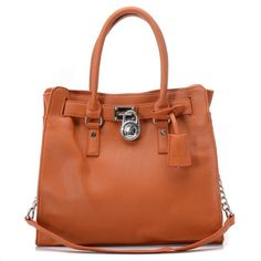 Michael Kors Saffiano Leather Large Brown Totes | Trendy Women Fashion.
