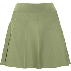 A.L.C. Agnus flared stretch-jersey mini skirt
