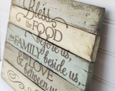 Family Prayer rustic, wooden sign made from reclaimed pallet wood