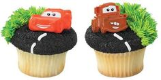Disney Cars Mater and McQueen Cupcake Rings - 12 ct. At your next party don't forget to add these to top of the cupcakes! The kids will LOVE them! Car Themed Parties, Cars Birthday Parties, 2nd Birthday, Birthday Ideas, Birthday Cakes, Disney Cars Cupcakes, Car Cupcakes, Hot Wheels, Car Cake Toppers