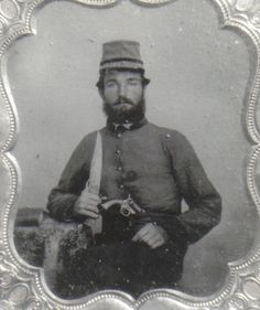 """Pvt. Henry Allen Moy Davis, Company G, """"Columbia Guards"""" 6th Arkansas Infantry.  Killed at Shiloh on April 7th."""