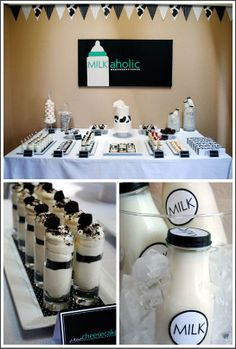 Milk & Cookies Party-Cute Idea For Your Next Get-Together!  www.itswrittenonthewall.com