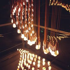 """""""#chandelier """"  See the new Plumen 002 featured in the Light Wave installation at the Design Museum here - http:www.plumen.com"""