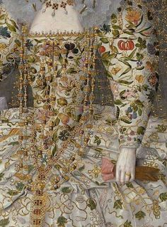 Catherine Carey, Countess of Nottingham (Detail), 1597, attributed to Robert Peake (circa 1551 – circa 1619)