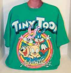Vintage 1993 Tiny Toons Adventures Warner Bros Graphic T Shirt Adult XL Freeze | eBay