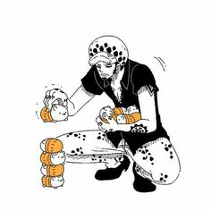 Trafalgar D. Water Law, funny, cute, Bepo; One Piece