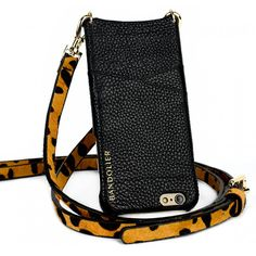 Scarlett Leather Luxury iPhone Case with Cheetah Strap | Bandolier