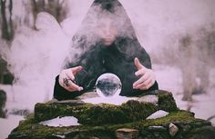 Gazing into the crystal ball ( Instagram photo by @light_witch )
