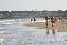 Rhode Island, Narragansett Town Beach - Print for sale at Fine Art America by Bonnie