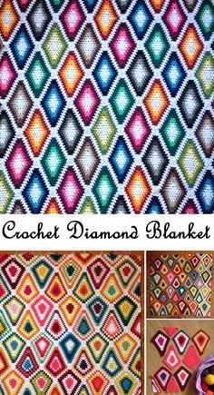Crochet Diamond Blanket