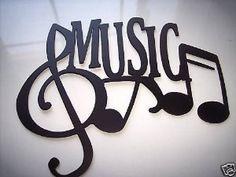 Amazon.com: Music Word And Music Notes Metal Wall Art Decor: Home & Kitchen