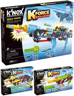 Con #KForce, de #K'Nex, llega la diversión de los #lanzadores de #dardos para construir y  personalizar.