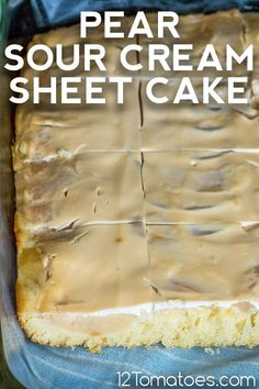 So simple to make, but even easier to enjoy. Delicious Cake Recipes, Yummy Cakes, 12 Tomatoes Recipes, Canned Pears, Quick Cake, Eat To Live, Taste Of Home, Large Egg, Cake Servings