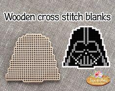 Darth Vader Star Wars Brooch or Pendant Set of Wooden cross Star Wars Pc, Star Wars Party, Wood Crosses, Plastic Canvas Patterns, Lorraine, Pendant Set, Magnets, Cross Stitch, Darth Vader