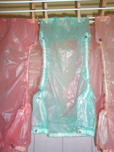 """Taille XL Extra Large 32/"""" Taille Adult Baby Blue Snap Plastique Pantalon en PVC 37/"""""""