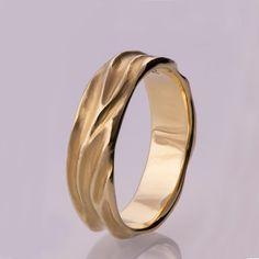 Dune No.2 14k Gold Ring Wedding Ring Wedding Ring by doronmerav
