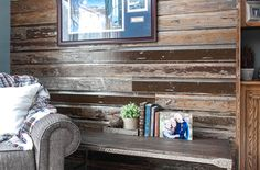 Over 50 years of MN craftsmanship and expertise! Reclaimed Wood Accent Wall, Wood Wall, Lake Resort, Cabins, Home Remodeling, Seal, Layers, Colors, Painting