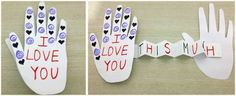 Simple I love you Card ~ perfect for Mothers Day, Fathers day or to show someone how much you care. Adorable