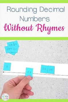 Teaching Activities and ideas for rounding decimal numbers on a number line. Teaching 5th Grade, Fifth Grade Math, Teaching Math, Fourth Grade, Teaching Tips, Math Lesson Plans, Math Lessons, Rounding Decimals, Percents