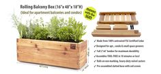 Minifarmbox site: rolling balcony box. Great ideas to convert to DIY
