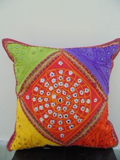 cushions-Multicolured cushion cover-Antique by Dormitoriodcor