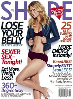 """The September 2013 issue of Shape Magazine will feature Maria Sharapova on the cover with byline: """"Toned ABS! Tennis Goddess Maria Sharapova Reveals Her Hot-Body Secr… Shape Magazine, Wimbledon, Maria Sharapova Hot, Maria Sarapova, Lean Legs, Tennis Players Female, Tennis Stars, Toned Abs, Poses"""