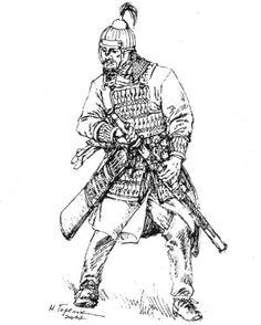 Bulgar warrior Болгарский воин. VII в. Реконструкция М.В. Горелика
