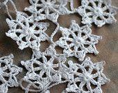 Crochet Garland Wall Hanging Small Bunting Stars by namolio