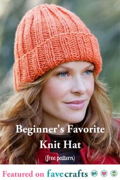 22997f270 Beginner Hat Knitting Pattern