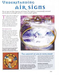 Understanding Air Signs – Witches Of The Craft® Astrology Numerology, Astrology Zodiac, Astrology Signs, Zodiac Signs, Wiccan Spells, Witchcraft, Magic Spells, Chakras, Tarot