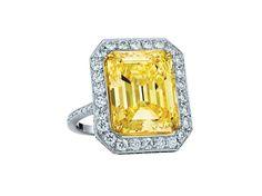 Emerald Cut Yellow Diamond Ring - Paolo Costagli