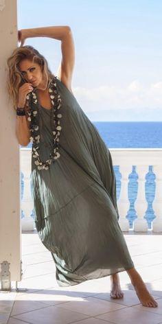 Yiannis Karitsiotis Green Crush Layered Dress