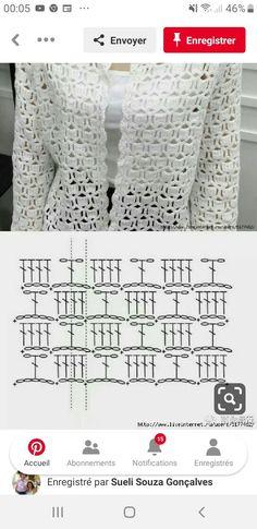 Free Crochet Stitches from Daisy Farm Crafts - Tricot Pontos Crochet Bolero, Pull Crochet, Tunisian Crochet, Crochet Cardigan, Crochet Stitches, Knit Crochet, Easy Knitting, Knitting Patterns, Crochet Patterns