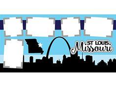 """St Louis Missouri"" Scrapbook Kit"